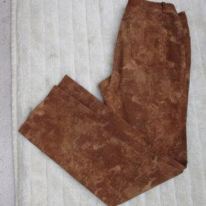 CELINE LEATHER LOOKING PANTS ~ 42 ~ sz.10 ~ FRANCE